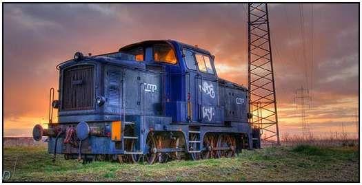 Old Frich diesel locomotive-Esbjerg Harbor
