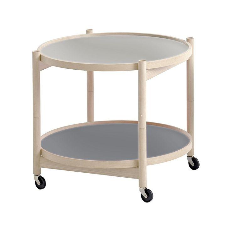Krüger rullbord, ø60 cm - Krüger rullbord, ø60 cm - bok, ljusgrå/mörkgrå