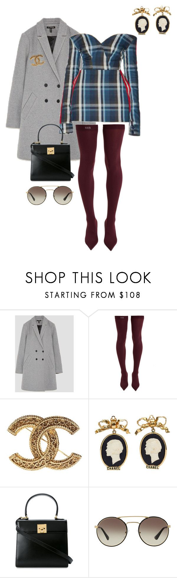 """""""Untitled #632"""" by milly-oro on Polyvore featuring Balenciaga, Chanel, CÉLINE and Prada"""