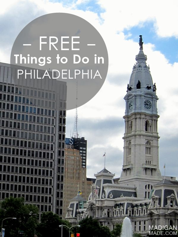 Need to get away from your room and homework? Take a quick train ride into center city! Here are FREE things to do in Philadelphia, PA - C.R.A.F.T.