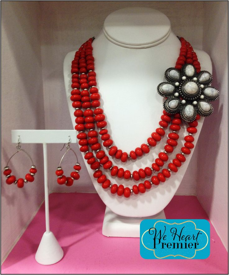 Clemententine Necklace with Posy Enhnacer and Clementine Earrings. #pdcombo