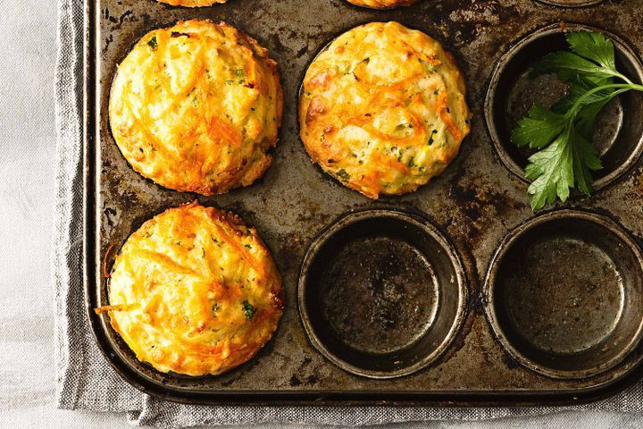 Zucchini, carrot and honey muffins