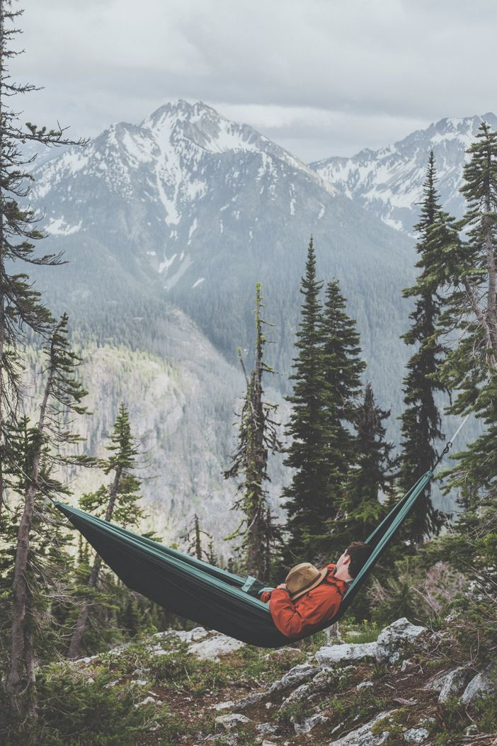 sleeping in the mountains