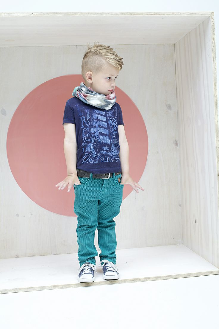 Fohawk | Grayson Tee | Teal Striped Skinnies | Chucks