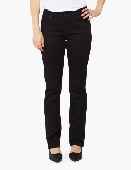 These medium straight leg jeans are a full length.