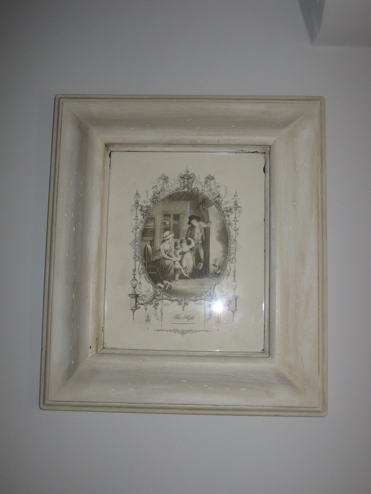 Old picture frames antiqued with paint and dark wax painted by dear lilly
