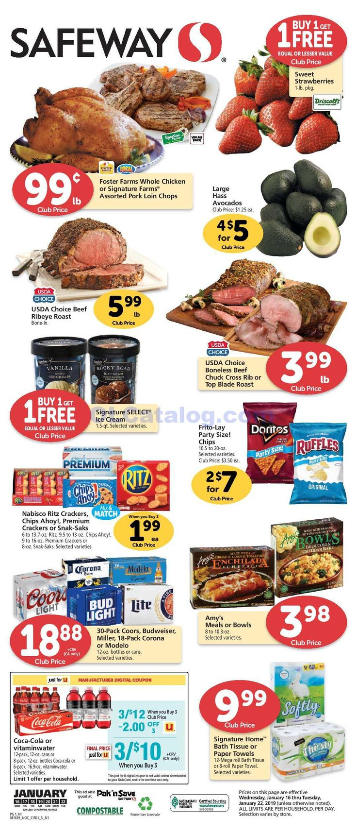 Safeway Weekly ad January 16 22, 2019. Find Latest