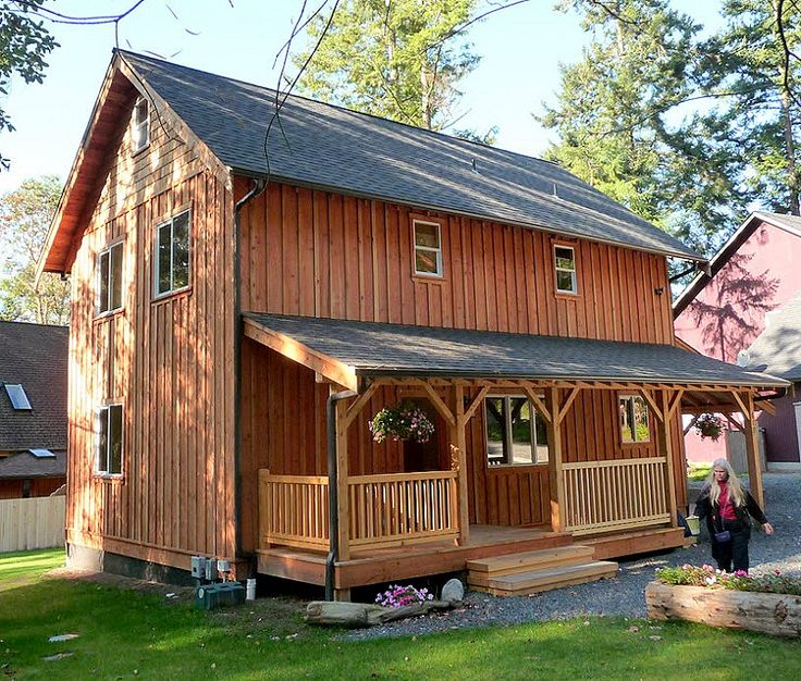 Pinterest the world s catalog of ideas for Board and batten cabin plans