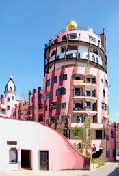 THE GREEN CITADEL OF MAGDEBURG - Architectural artwork by Friedensreich Hundertwasser