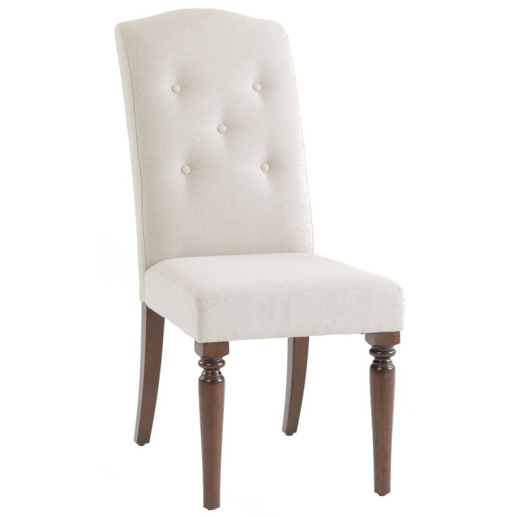 Lands' End Country Luxe Upholstered Dining Chair - Mahogany Finish : Sears Outlet