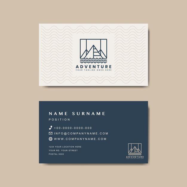 Premium Business Card Design Mockup Free Vector Business Card