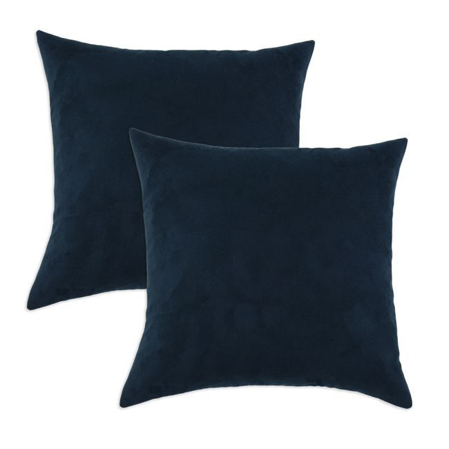 Slam Dunk Navy Simply Soft S-backed 17x17 Fiber Pillows (Set of 2) Great deals, Shopping and ...
