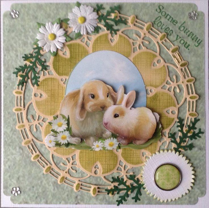 """Some bunny loved you"" konijntjes van Amy Design Spring Collection"