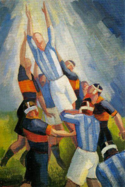 Ángel Zárraga, Partie de football, 1924 ca. Private collection