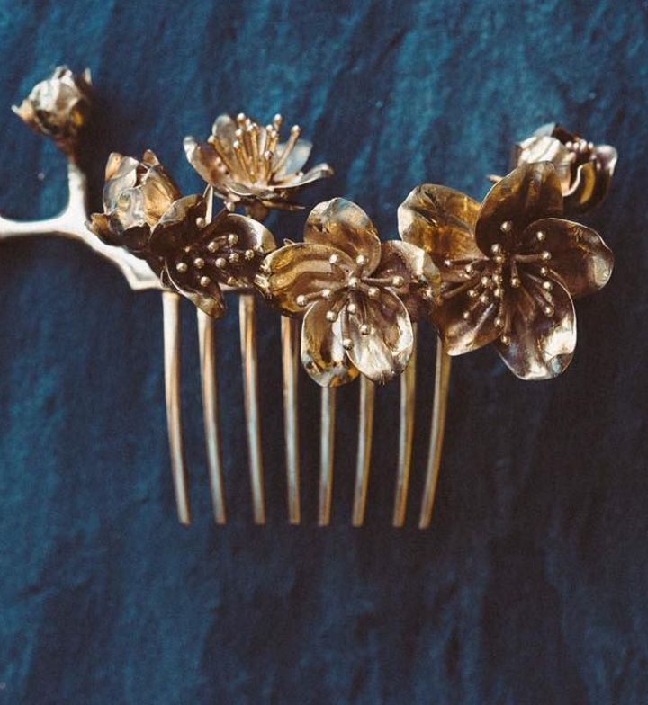 Cherry Blossom Hair Comb by Collected Edition on Etsy