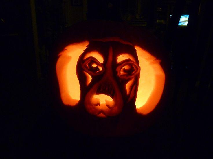 Beagle hound dog halloween pumpkin carving