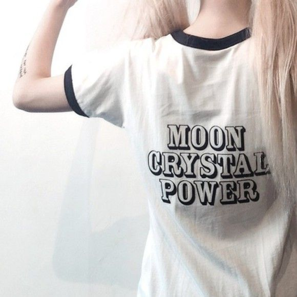 anime sailor moon soft grunge pale grunge kawaii white kawaii grunge t-shirt shirt black