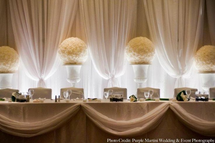 Diy Wall Draping For Weddings That Meet Interesting Decors: 17 Best Images About Head Table Backdrops On Pinterest