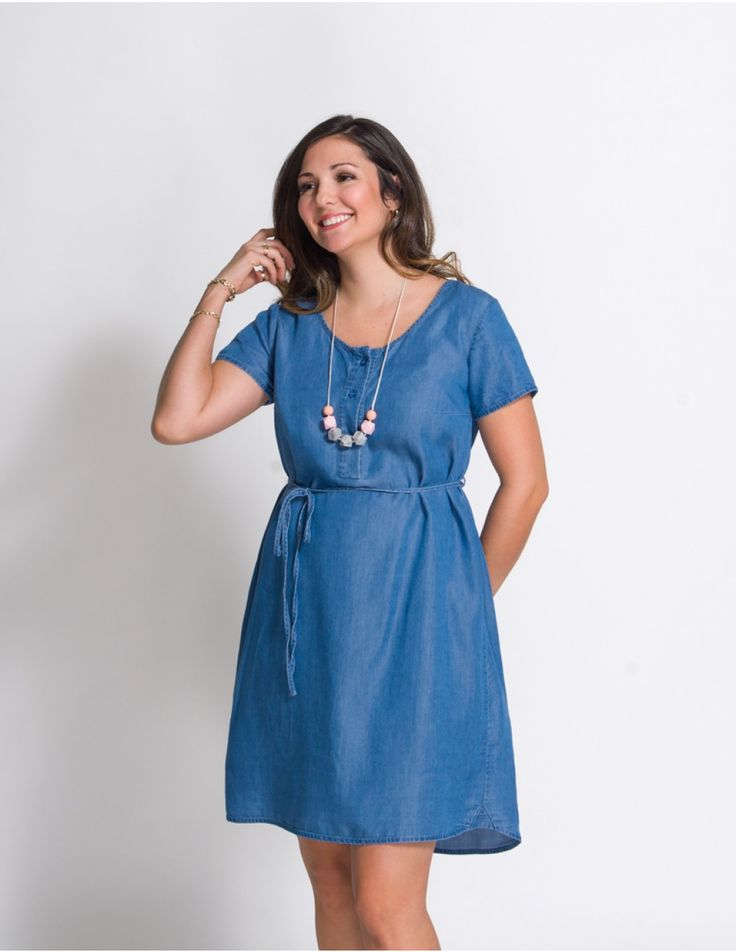 That's what you were looking for! The Denim Nursing Dress Nora is the summer must-have for a breastfeeding mom!