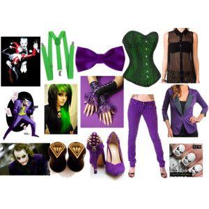 female joker ms - Joker Halloween Costume For Females