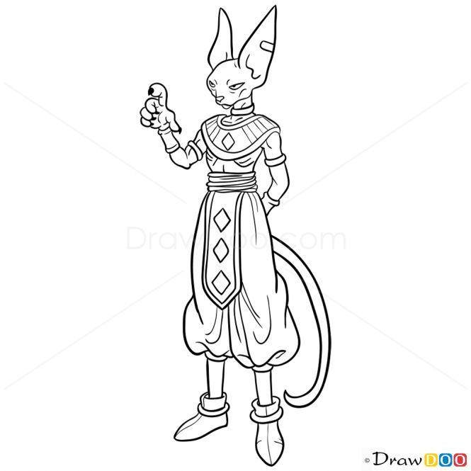 How to Draw Beerus, Dragon Ball Z - How to Draw, Drawing