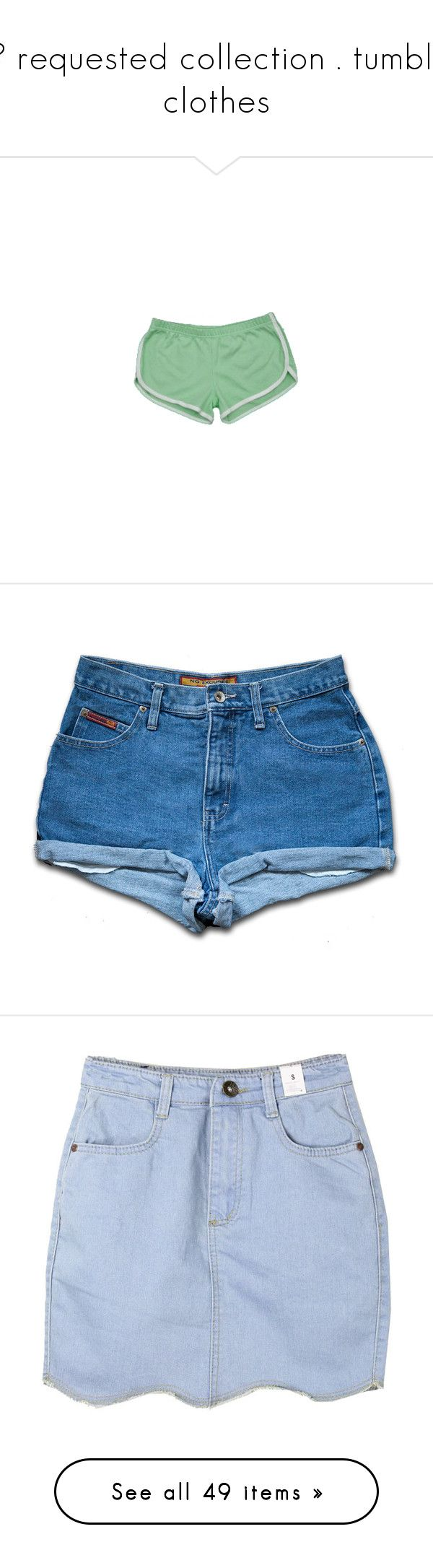 """☃ requested collection . tumblr clothes"" by hxney-dew ❤ liked on Polyvore featuring shorts, bottoms, short, pants, filler, jeans, vintage jean shorts, high-waisted cut-off shorts, high waisted jean shorts and high-waisted denim shorts"