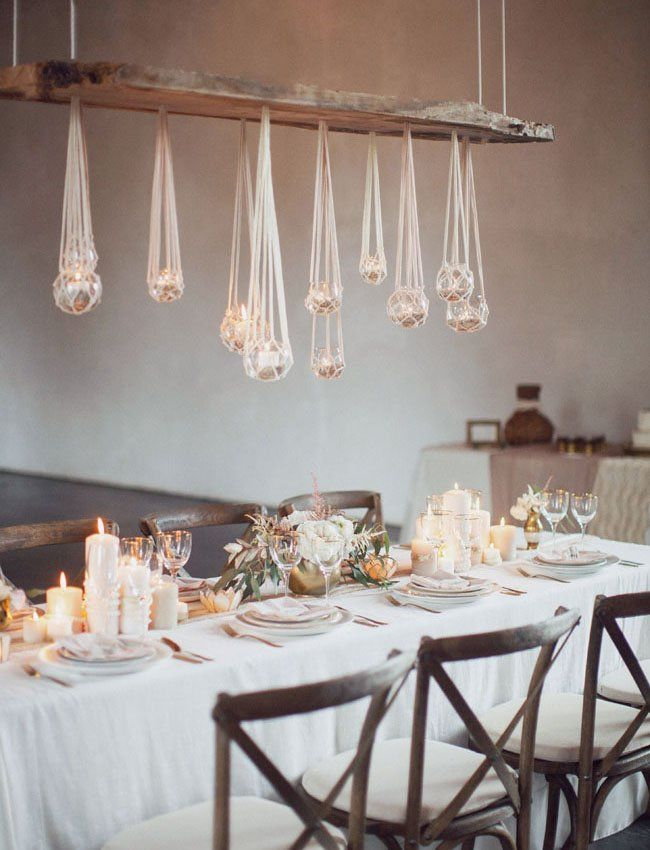 hanging macrame lights