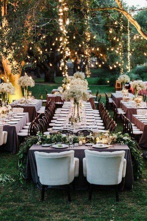 38 Outdoor Wedding Lights Ideas You'll Love | HappyWedd.com