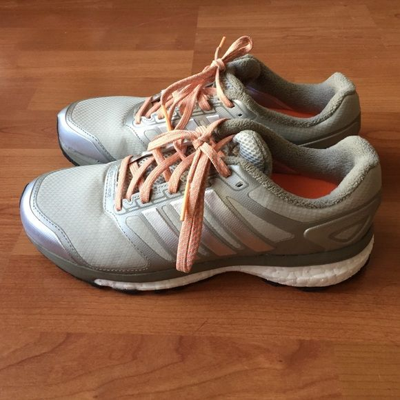 Adidas Supernova Boost Shoes Gray running shoes. Never worn because too small. Adidas Shoes Athletic Shoes