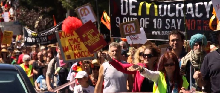 March against Maccas  Video by MrTJsmith79,  Music by Rebellious Bird  http://www.youtube.com/watch?v=i7FYVxSXnCM