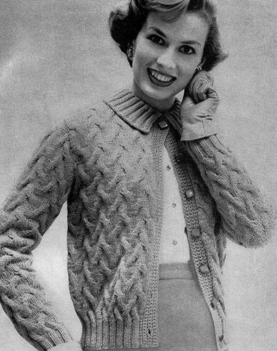 1950's vintage button down cardigan