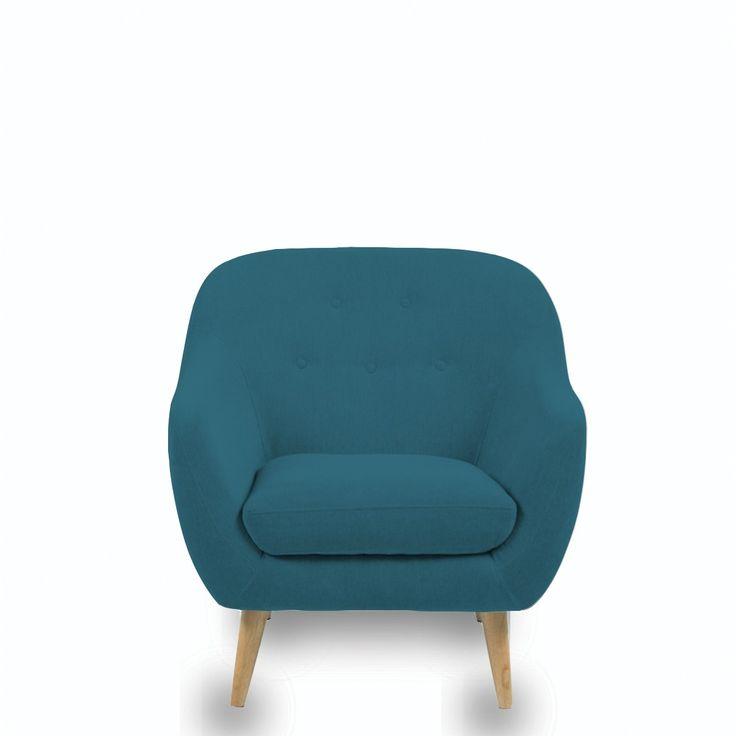 fauteuil scandinave capitonn cirrus fauteuil scandinave bleu p trole et petrole. Black Bedroom Furniture Sets. Home Design Ideas