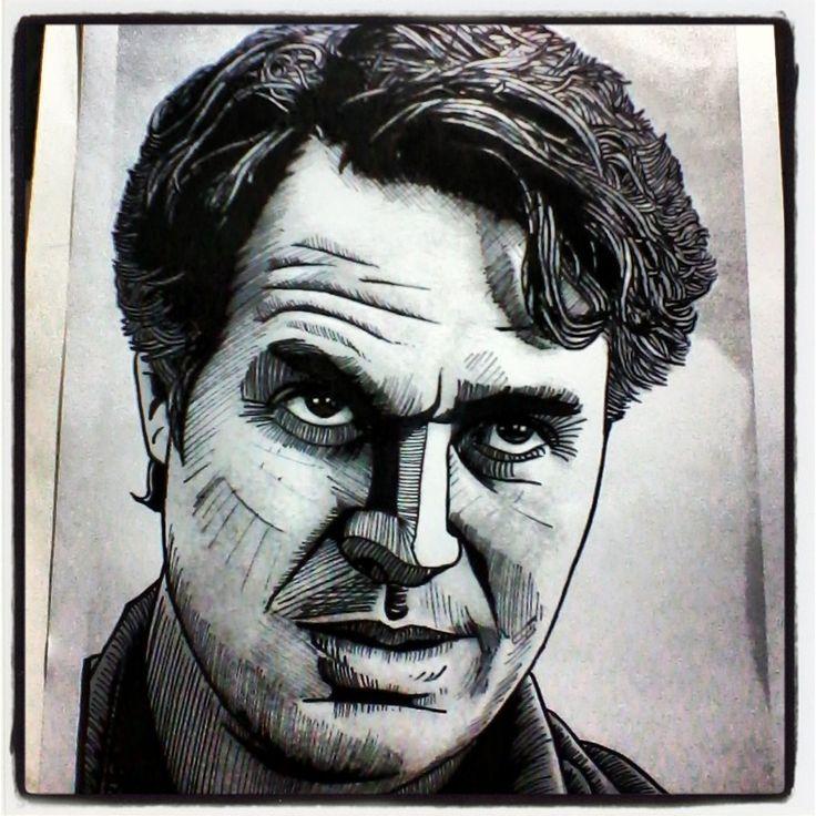 Bruce Banner - Hulk - Mark Ruffalo - #avengers #vengadores #marvel #capitánamerica #captainamerica #ironman #tonystarks #blackwidow #viudanegra #steverogers #robertdowneyjr #hulk #brucebanner #markruffalo #chrisevans #scarlettjohansson #natasharomanoff #ilustración #retratos #dibujo #draw #sketch #art #arte