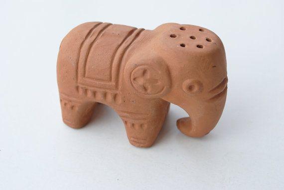 Vintage Ceramic Elephant Figurine Elephant Gift by SoulSisters16