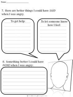 CBT Worksheets for Angry Teens   Coping with Anxiety Worksheets More