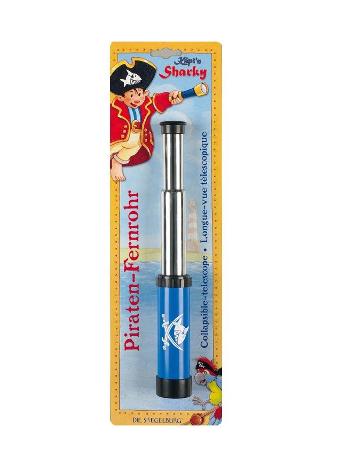 CATALEJO CAPITAN SHARKY. Espectacular catalejo con el que pueden jugar a ser pirata de los 7 mares;Es extensible y amplia la imagen hasta 10 veces.  REBAJAS en todos nuestros Juguetes en General. 30% de Descuento