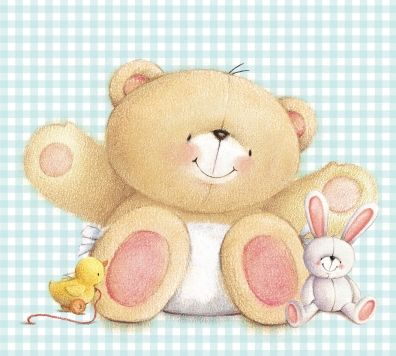 ♥ Forever Friends Baby Bear & Friends Card ♥