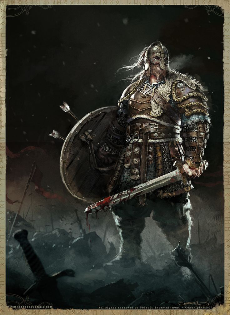 spassundspiele:  For Honor Viking Warlord - character concept by Remko Troost for honor