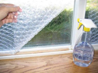 Use BubbleWrap as an easy and highly effective window insulator this winter…