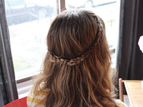 este es un ejemplo para lograr un look ms hippie con un corona de trenza con