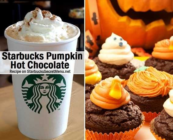 Starbucks pumpkin, Hot chocolate and Secret menu on Pinterest