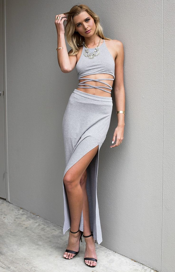 Congo Two Piece Set Grey - shop it here: http://beginningboutique.com.au/congo-two-piece-set-grey