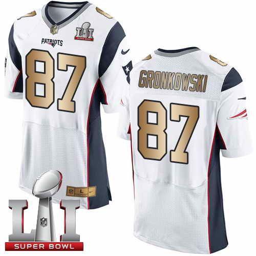 3b6581057 Find this 23 Patriots 87 Rob Gronkowski Nike Mens Super Bowl LI 51 Stitched Elite  Jersey · PontosNew ...