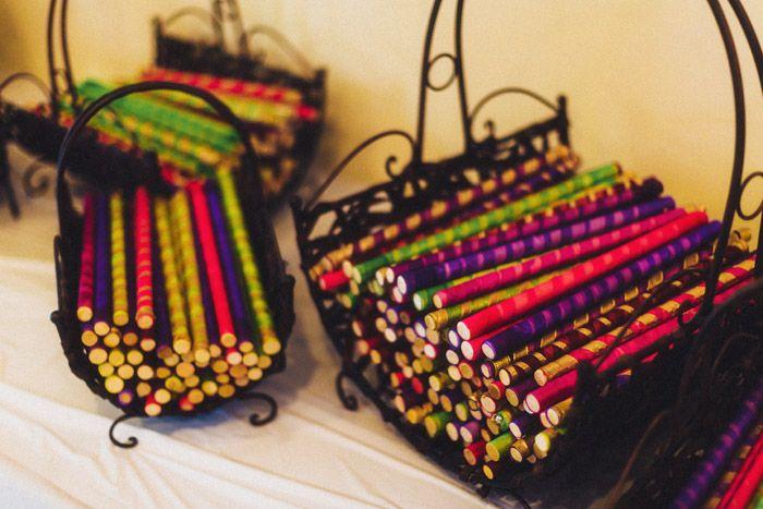 Basket for dadiya sticks; Garba; Gujarati wedding; Indian wedding