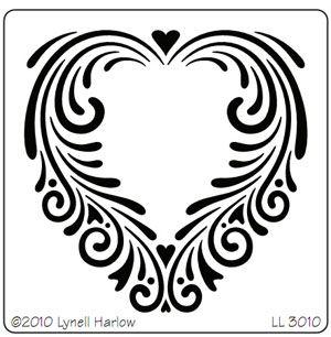 Tole Heart Stencil  LL3010