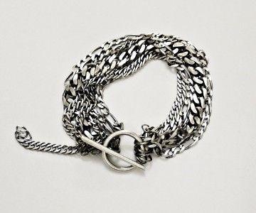KSZU- Multi Chain Silver Bracelet