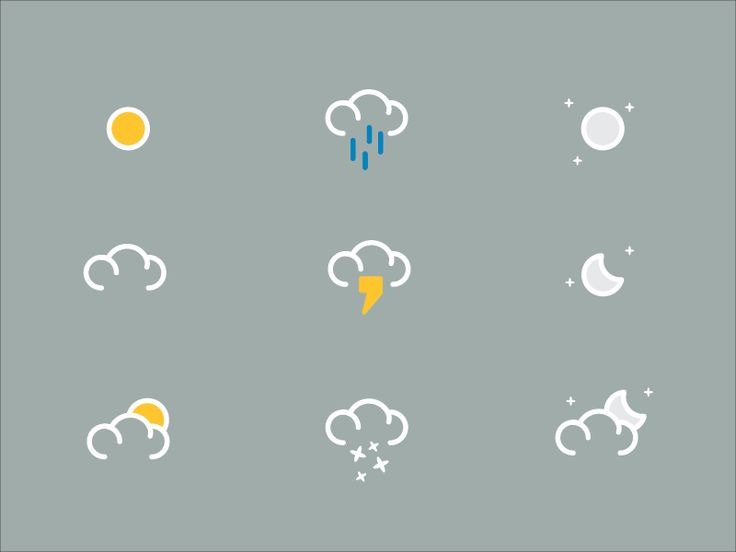 Weather Icons by Michael Powers