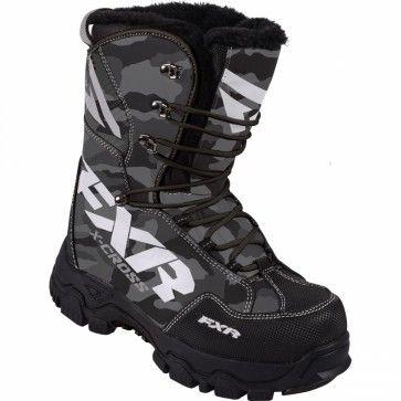 FXR X Cross Urban Camo Mens Snowboard Skiing Sled Snowmobile Boots