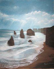 Ed Cabral Art - 12 apostles Australia Coast  by Ed Cabral