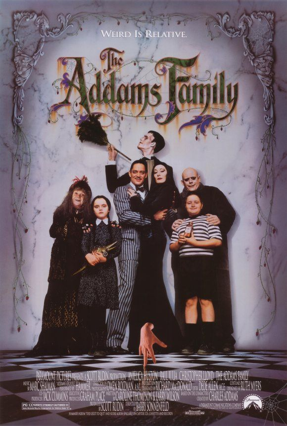 "9. The Addams Family (1991) - Fantasy Comedy - ""Stepping out of the pages of Charles Addams' cartoons and the 1960s television series, members of the beloved, macabre family take to the big screen."""